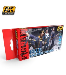 AK3150 BLUE UNIFORM COLORS - Figures Series Set (6 x 17 ml)