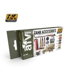AK4000 TANK ACCESORIES - Acrylic Paint Set (6 x 17 ml)