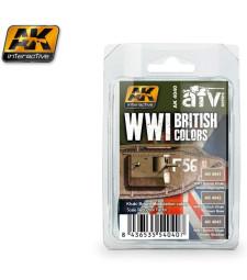 AK4040 WWI BRITISH COLORS (Khaki Brown Modulation Set) - Acrylic Paint Set (3 x 17 ml)