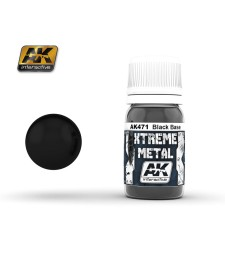 AK471 XTREME METAL BLACK BASE  (30 ml) - Xtreme Metal Color