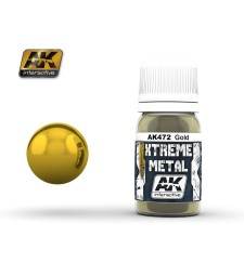 AK472 XTREME METAL GOLD  (30 ml) - Xtreme Metal Color