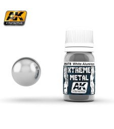 AK478 XTREME WHITE ALUMINIUM  (30 ml) - Xtreme Metal Color