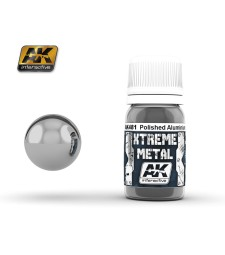 AK481 XTREME METAL POLISHED ALUMINIUM  (30 ml) - Xtreme Metal Color