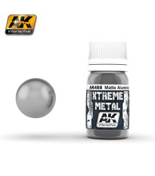 AK488 XTERME METAL MATTE ALUMINIUM  (30 ml) - Xtreme Metal Color