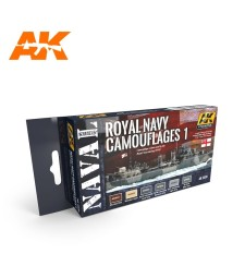 AK5030 ROYAL NAVY CAMOUFLAGES 1 SET - Naval Series Acrylic Paints (6 x 17 ml)
