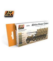 AK550 AFRIKA KORPS - Acrylic Paint Set (6 x 17 ml)