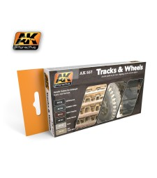 AK557 TRACK AND WHEELS - Acrylic Paint Set (6 x 17 ml)