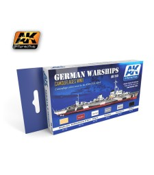 AK559 GERMAN WARSHIPS - Acrylic Paint Set (6 x 17 ml)