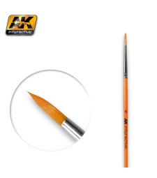 AK-606 Round Brush 6 Synthetic