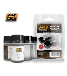AK616 MIX N READY (4 EMPTY JARS WHITH LABELS) - Auxiliary Products
