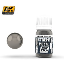AK669 XTREME METAL TITANIUM  (30 ml) - Xtreme Metal Color