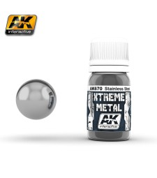 AK670 XTREME METAL STAINLESS STEEL  (30 ml) - Xtreme Metal Color