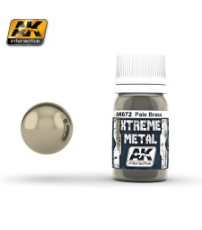 AK672 XTREME METAL PALE BRASS  (30 ml) - Xtreme Metal Color