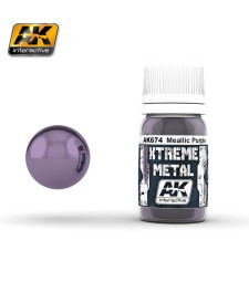 AK674 XTREME METAL METALLIC PURPLE  (30 ml) - Xtreme Metal Color