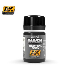 AK677 NEUTRAL GREY FOR WHITE&BLACK WASH  - Weathering Products (35 ml)