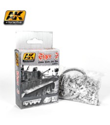 AK681 1:35 TIGER I COMBAT TRACKS LATE TYPE - METAL TRACKS