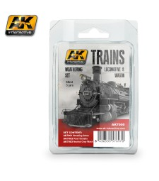 AK7000 LOCOMOTIVE & WAGON  - Train Weathering Set (3 x 35 ml)