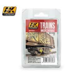 AK7010 UNDERCARRIAGE  - Train Weathering Set (3 x 35 ml)