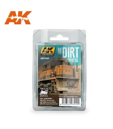 AK7020 BASIC DIRT EFFECTS SET - Weathering Set (3 x 35 ml)