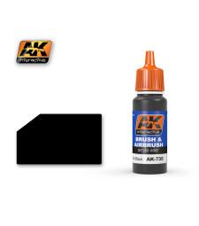 AK735 FLAT BLACK - Blue Label Acrylic Paints (17 ml)