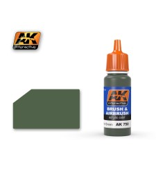 AK750 PROTECTIVE GREEN - Blue Label Acrylic Paints (17 ml)