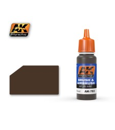 AK783 WEATHERED WOOD - Blue Label Acrylic Paints (17 ml)