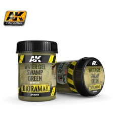 AK8006 WATER GEL SWAMP GREEN EFFECTS - (250 ml, Acrylic)  - Texture Products