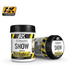 AK8011 TERRAINS SNOW - (250 ml, Acrylic)  - Texture Products