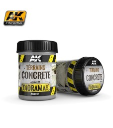 AK8014  TERRAINS CONCRETE - (250 ml, Acrylic)  - Texture Products