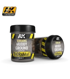 AK8017 TERRAINS MUDDY GROUND - (250 ml, Acrylic)  - Texture Products