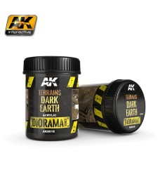 AK8018 TERRAINS DARK EARTH - (250 ml, Acrylic)  - Texture Products