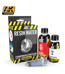 AK8043 RESIN WATER 2-COMPONENTS EPOXY RESIN - (375 ml,Enamel)  - Texture Products