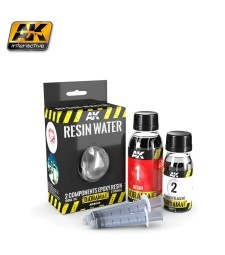 AK8044 RESIN WATER 2-COMPONENTS EPOXY RESIN - (180 ml,Enamel)  - Texture Products