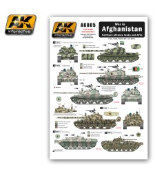 AK805 War in AFGHANISTAN Nosthern Alliance Tanks - Wet Trancefer