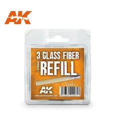 AK8065 Glass Fibre Refills - 3 x 4mm (for AK8058)