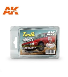 AK8089 EARTH EFFECTS RALLY SET - Cars & Vehicles Paint Set (3 x 17 ml)