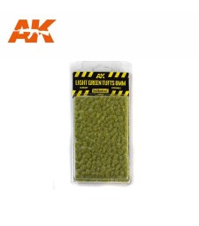 AK8118 Light green tufts (6 mm) - Texture Products