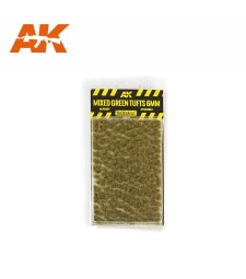AK8119 Mixed green tufts  (6 mm) - Texture Products