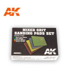 AK9021 Mixed Grit Sanding Pads Set 800, 400, 220, 120 grit. 4units