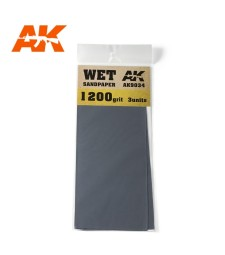 AK9034 Wet Sandpaper 1200 Grit. 3 units