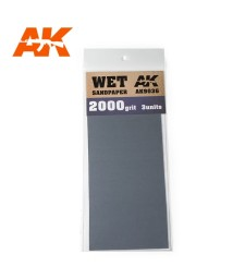 AK9036 Wet Sandpaper 2000 Grit. 3 units