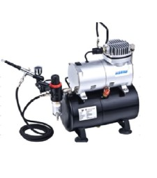 Airbrush Compressor Kit AS186K with 3 Litre Air Tank, Regulator, Air Hose & Gravity Fed Airbrush