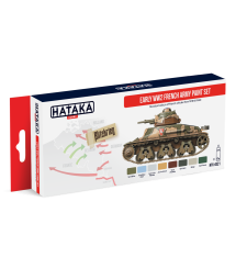 HTK-AS21 Early WW2 French Army paint set (8 x 17 ml) - RED LINE - AIRBRUSH DEDICATED