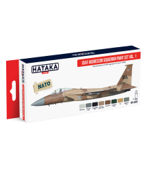 HTK-AS29 USAF Aggressor Squadron paint set vol. 1 (8 x 17 ml) - RED LINE - AIRBRUSH DEDICATED