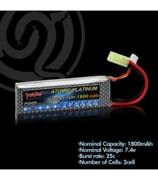 Lithium polymer battery 7.4v 1800mAh 25C