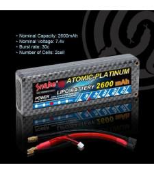 Lithium polymer battery 7.4v 2600mAh 30C