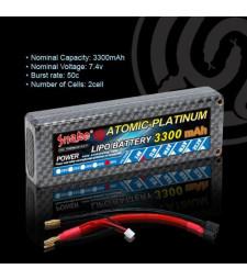 Lithium polymer battery 7.4v 3300mAh 50C