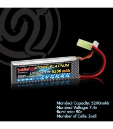 Lithium polymer battery 7.4v 5200mAh 50C
