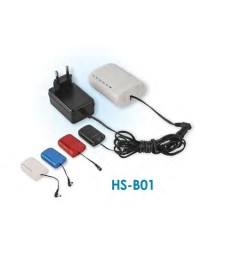 Battery Set HS-B01 with charger (black)