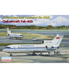 1:144 Yakovlev Yak-42D Russian medium-haul airliner, Aeroflot